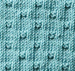 ściegi na drutach - kostki
