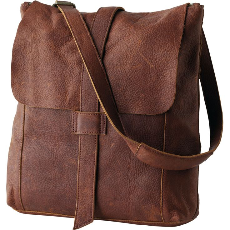 Amazing Old School 143939 Brown Leather And Canvas Messenger Bag For School