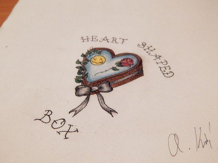 Nirvana tattoo, Heart shaped box Made by Andrea Křížová