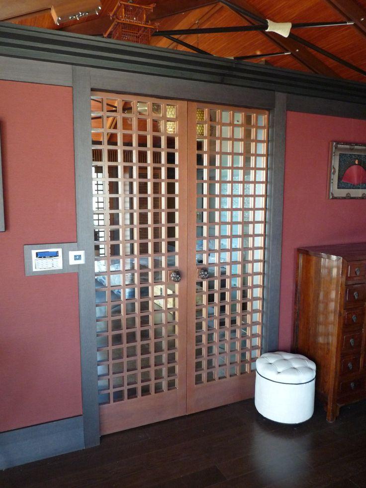 rusztikus beltéri ajtó merantiból