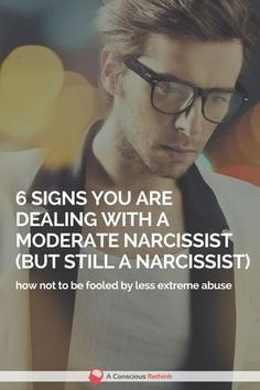 """Narcissism is a spectrum disorder meaning there is such a thing as a """"moderate"""" narcissist. These 6 signs will help you detect if there's one in your life. abuse, traits, relationships, dealing with, symptoms, facts, manipulation, covert"""