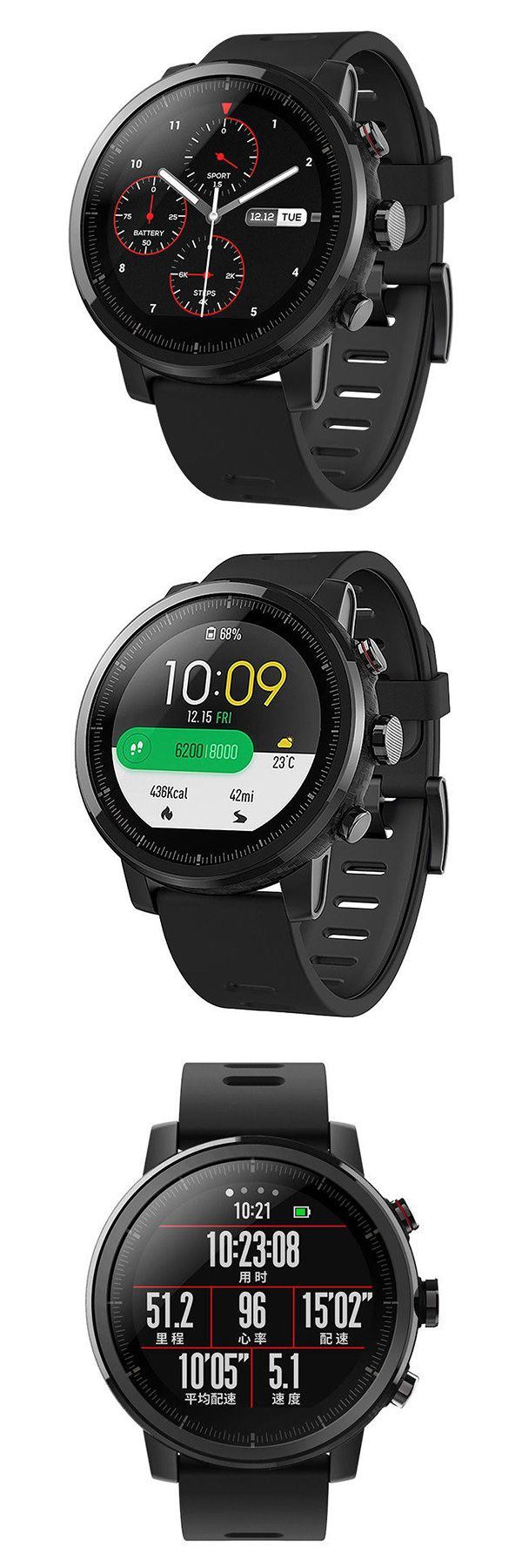 Chinese Version Xiaomi Huami AMAZFIT Strato Sports Watch 2 GPS 1.34 inch 2.5D Screen Running Watch