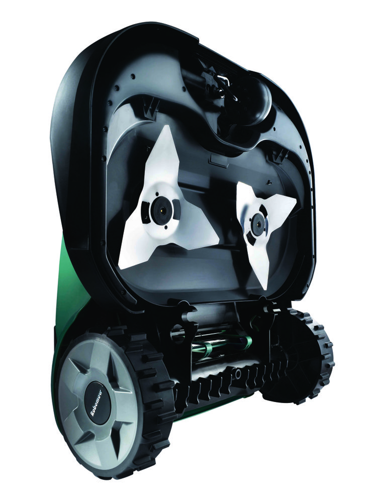 This robot mower can mow up to 3/4 acres completely automatically. Set a schedule and it mows and self charges. It's cheaper to own than a riding mower plus saves you time - www.NeverMowAgain.com