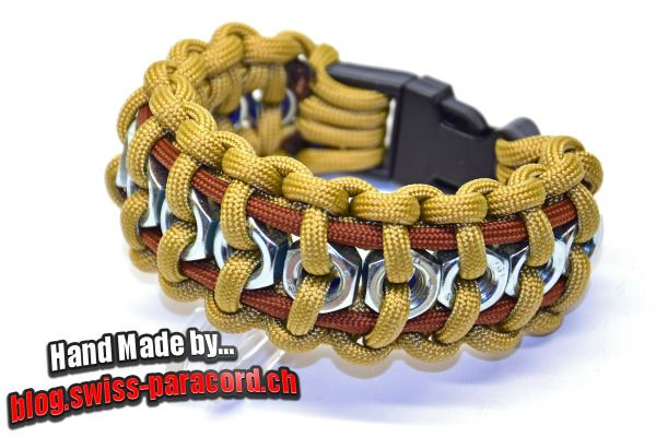 Hex Nut paracord bracelet tutorial