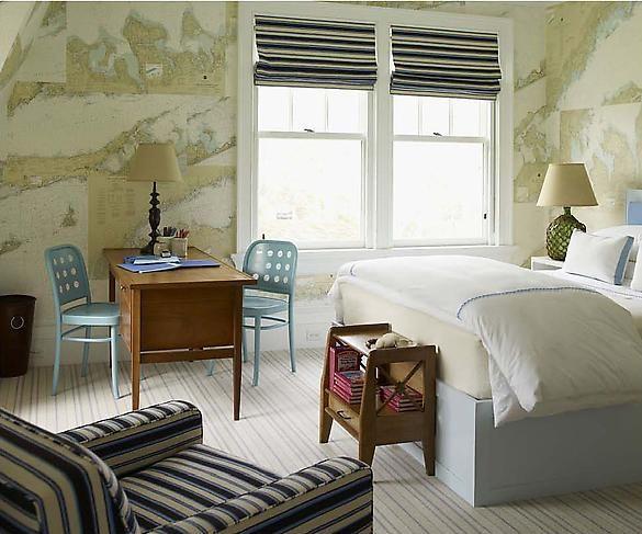 S.R. Gambrel - boy's rooms - world map, wallpaper, boy's bedroom, world map wallpaper, vintage world map wallpaper, vintage map wallpaper,  ...