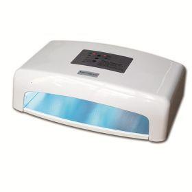 Λάμπα UV 45W Marathonas Nails Με 2 Στεγνωτήρες Επαγγελματική λάμπα UV για τεχνητά νύχια ιδανική για nail studio:   • Πέντε λάμπες των 9 Watt (45 Watt)   • Μήκος κύματος 370 nm • Καθρέπτης σε όλο τον θάλαμο  • Αυτόματη λειτουργία με πέντε χρόνους εργασίας, 90, 120, 180, 240 και 300 sec   • Δύο στεγνωτήρες 12V DC, 3W   • Ανεξάρτητη λειτουργία UV και στεγνωτήρων  • Για χέρια και πόδια  • Διαστάσεις 36,5 εκ. Χ 27εκ. Χ 11 εκ.  • Βάρος 3 κιλά  Τιμή €140.00