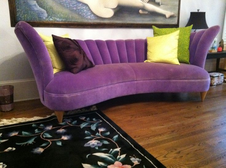 Stunning Purple Sofa Design Ideas : Stunning Purple Sofa With Various Cushion there is never TOO MUCH purple