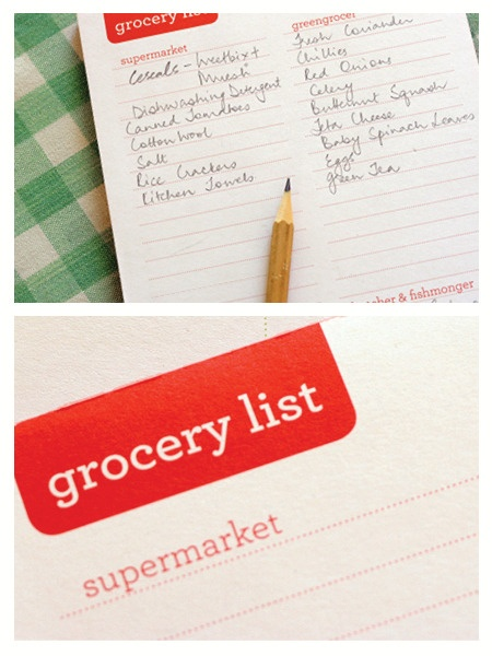 Grocery List | The Paperface