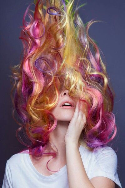 Rainbow by Cameron LeSiege for Paul Mitchell                                                                                                                                                                                 More