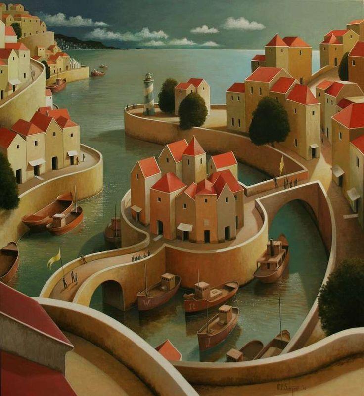 Michiel Schrijver - Surprises by the sea. 110 x 100 cm. 2012: