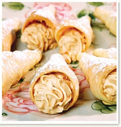 Pastry Cones with Crème Pâtissière » Baking for Profit, Recipes   Huletts Sugar
