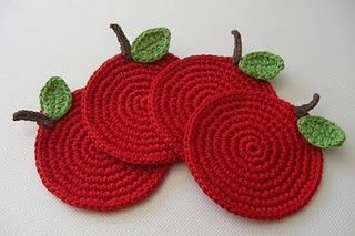 Fruit Crochet coaster