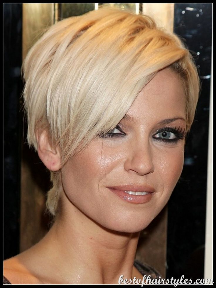 Short Hairstyles for Round Faces, Round Face Haircuts - Bob, Wispy ...