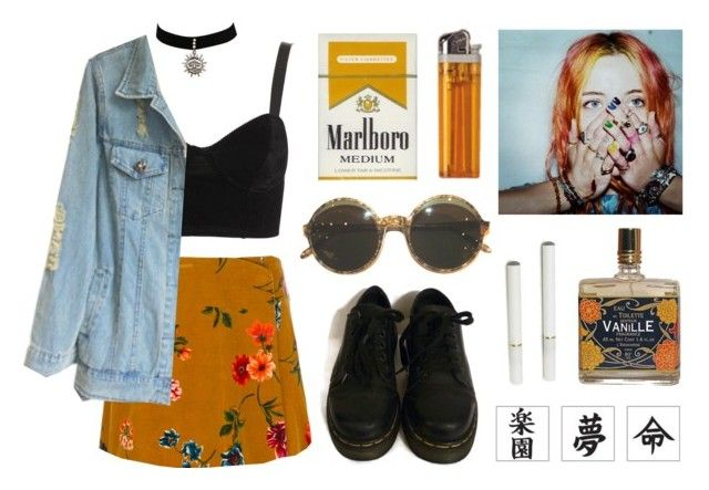 """""""Fleurs"""" by junk-food ❤ liked on Polyvore featuring Mode, Kenzo, Motel und Dr. Martens"""