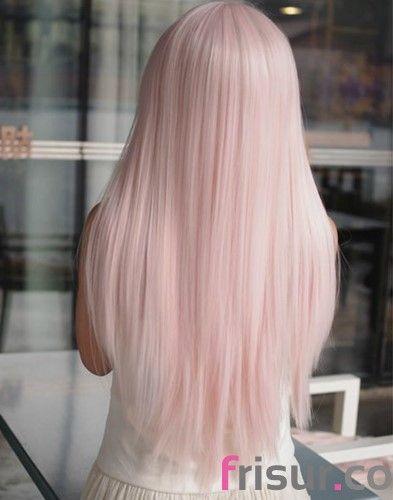 28. Rosa Pastell-Szene Gefärbt Frisur