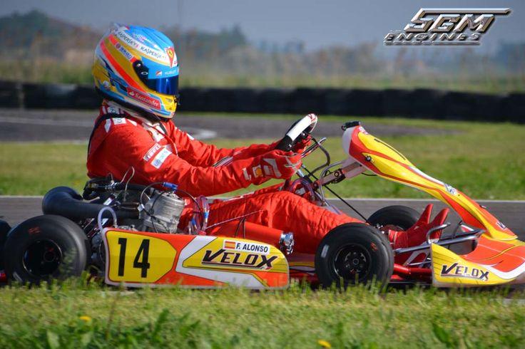 Fernando Alonso in kart a Migliaro