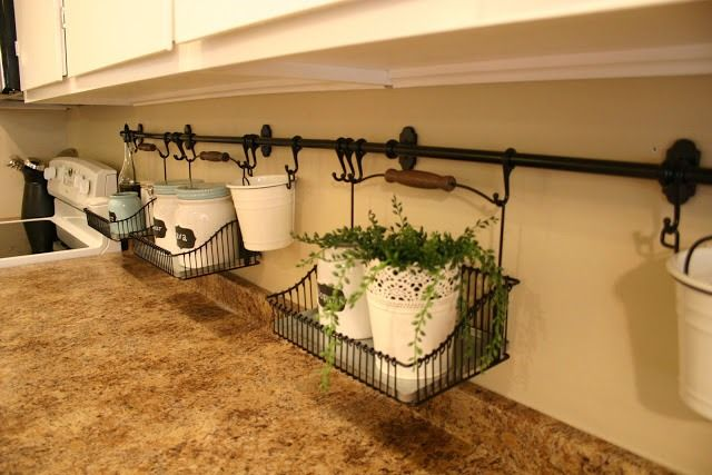 kitchen idea - genius so I can always keep my counters disinfected :)