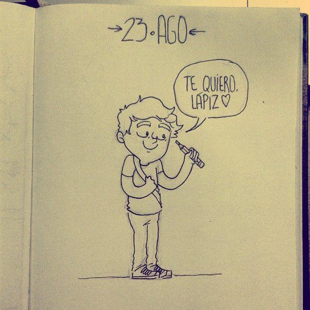 23 AGO - Daily Comic - oh cuanto te quiero #dailycomic #sketch #sketchbook #doodle #elbocetoaleatorio