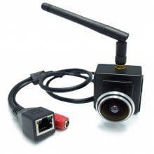 720P Wifi Wide Angle 1.78MM Fisheye Lens 1.0 MP Wireless Camera Indoor Smallest Network Door Eye Monitoring