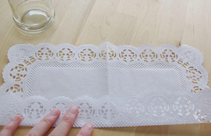 Hochzeits-Special Windlichter Kerzen Deko Glas Spitze DIY Anleitung Variante 2 Material