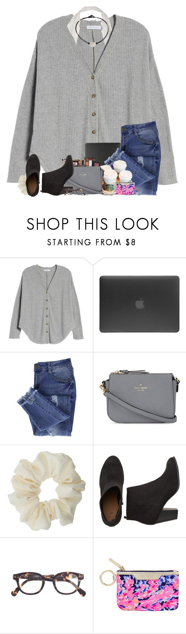 """""""how do y'all feel about this whole thermal trend?"""" by j-prepp ❤ liked on Polyvore featuring Socialite, Incase, Essie, Kate Spade, Miss Selfridge, J.Crew and Lilly Pulitzer"""