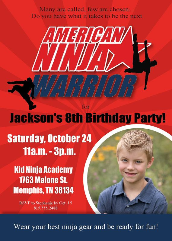 American Ninja Warrior Invitation Ninja by EveryMakingMoment