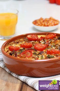 Cajun Breakfast Bake. #HealthyRecipes #DietRecipes #WeightLossRecipes weightloss.com.au
