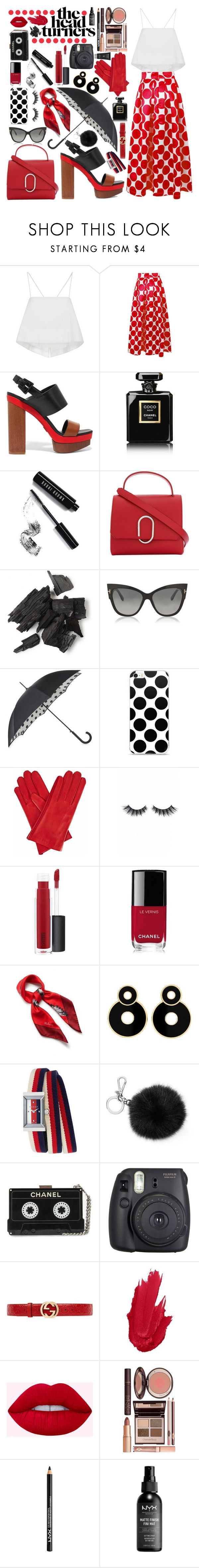 """The Head Turner: Polka Dots"" by catcam13 ❤ liked on Polyvore featuring A.L.C., Michael Kors, Chanel, Bobbi Brown Cosmetics, 3.1 Phillip Lim, Tom Ford, Fulton, Gizelle Renee, Violet Voss and MAC Cosmetics"