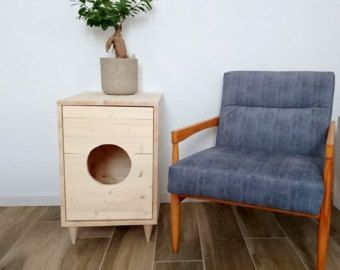 Cat Litter Box Cover  Pet House  Hideaway  Scandinavian