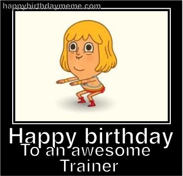 trainers b'day