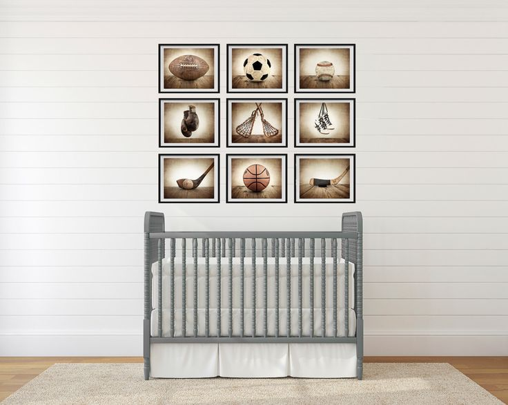 Sports Wall Art,  Set of Nine photo prints, Boys Nursery Decor, Rustic sports Decor, Vintage Sports art, Boys Sports room by shawnstpeter on Etsy https://www.etsy.com/listing/128416516/sports-wall-art-set-of-nine-photo-prints