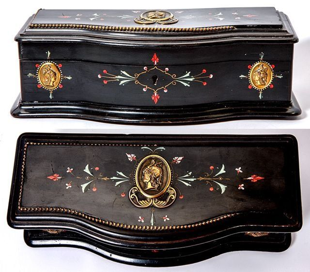 Antique Victorian Era Glove or Jewelry Box, Casket, French or Italian