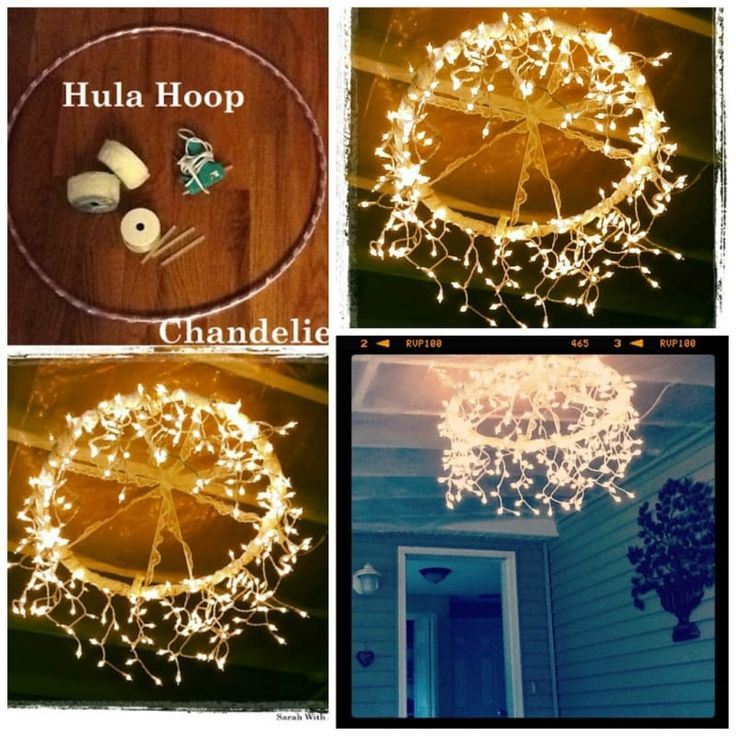 These Outdoor Lighting Ideas Will Brighten Up Your Summer: Best 25+ Hula Hoop Chandelier Ideas On Pinterest