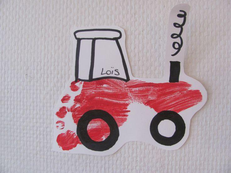 Tractor met een voetafdruk