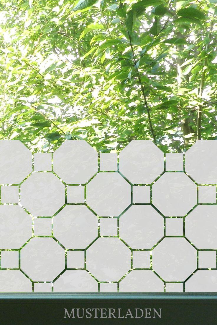 Fensterfolie Achteck Blickschutz Badezimmer Sichtschutz Folie Glastur In 2020 Fensterfolie Fensterfolien Sichtschutzfolie