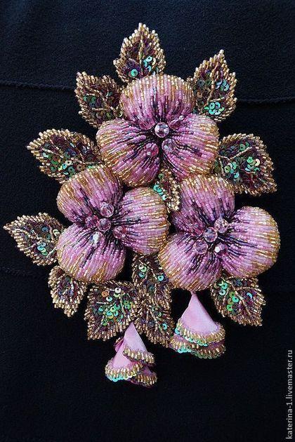 Брошь ЛЕТНЯЯ АКВАРЕЛЬ. Handmade. #embroidery #beadart