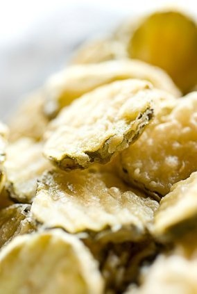 This page contains fried dill pickle chip recipes.  Fried pickle chips are a unique snack that many people love. If you havent tried them before, you are in for a yummy treat.