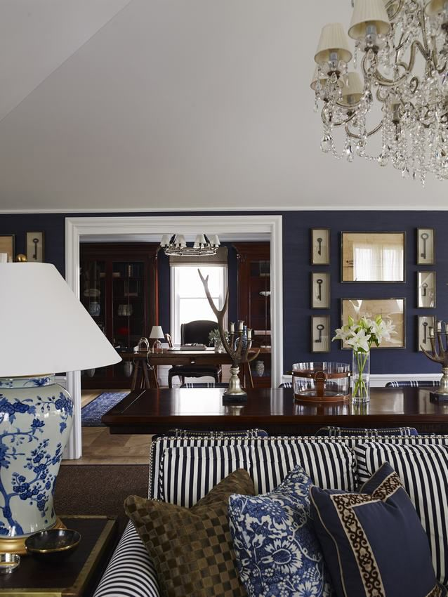 A New England Style Guest House In East Brisbane, Australia By Interior  Designer Greg Natale. The Navy Grasscloth Is By Ralph Lauren.