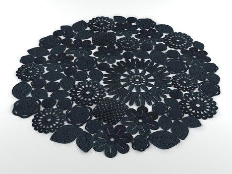 Crochet rug. Although I wouldn't use something do fragile for a rug lol