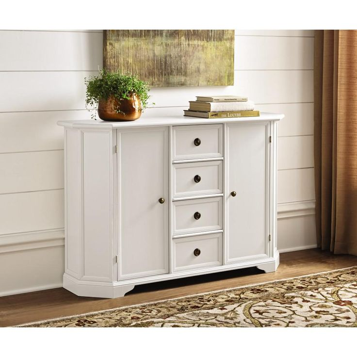 White Kitchen Buffet: Home Decorators Collection Caley Antique White Buffet