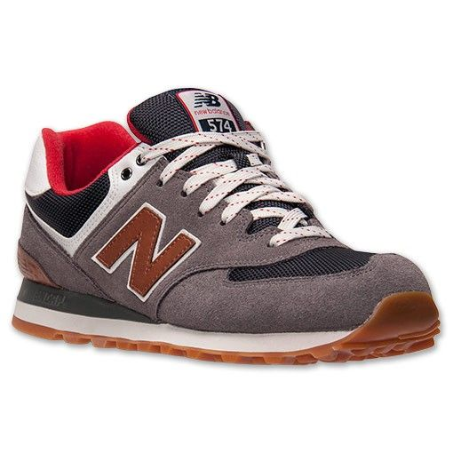 45 rabatt new balance 574 herren freizeitschuhe grau rot. Black Bedroom Furniture Sets. Home Design Ideas