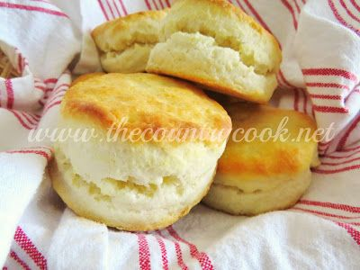 The Country Cook: Cream Biscuits {Only 2 Ingredients!}--some great tips for making biscuits with this recipe or any.  This recipe looks really easy, but I'd try using unbleached flour instead.