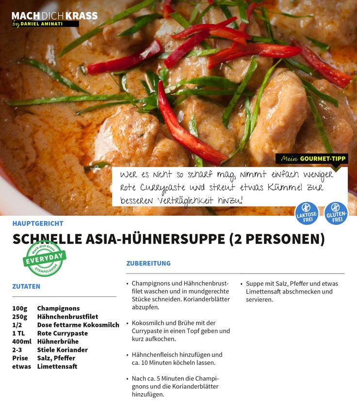 Schnelle Asia-Hühnersuppe (2 Personen)
