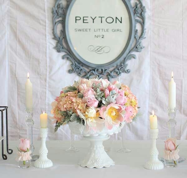 Sorry Im pinning this to your board for baileys shower cause i need you to make me a secret board;)French baby shower theme with the baby's name on it. Love the look!