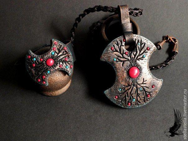 Лепим кулон из полимерной глины - Ярмарка Мастеров - ручная работа, handmade