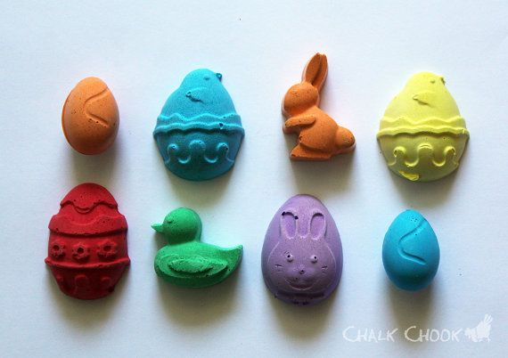 Easter Collection (Eggs Bunnies Ducks) Set of 8 by ChalkChook, $9.95