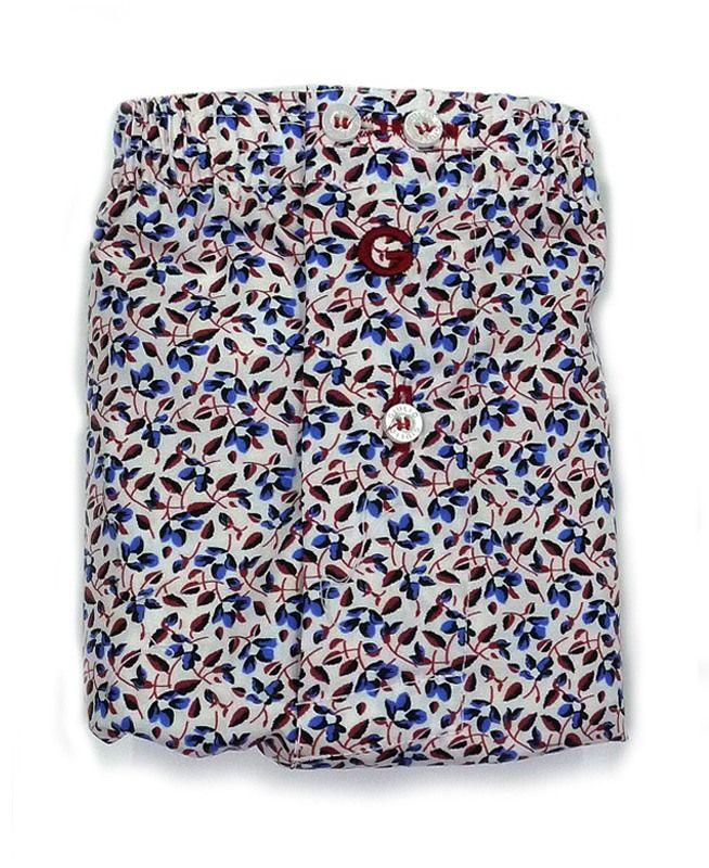 GIULIO BOXER TELA (Algodón 100%). Nuevo y diferente calzoncillo de corte clásico con motivos de hojas. + modelos varelaintimo.com