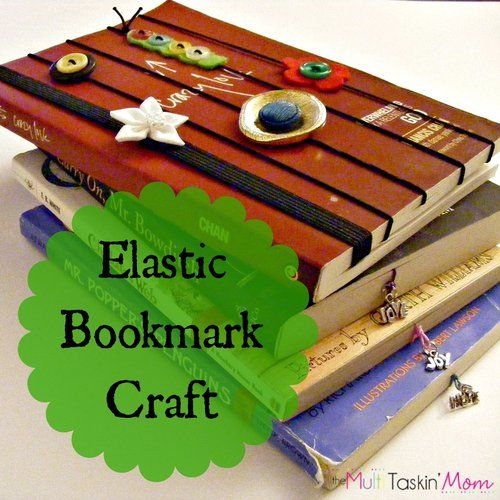 Easy elastic bookmark craft, ideas for elastic bookmark crafts, elastic bookmark crafts make great gifts for kids to make