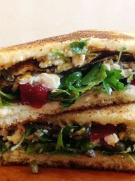Roasted Eggplant and Pickled Beet Sandwiches | KitchenDaily.com