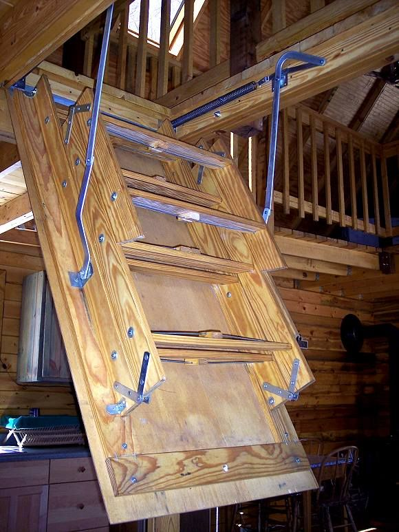 pull down ladder to cabin loft 2 farm ideas attic. Black Bedroom Furniture Sets. Home Design Ideas